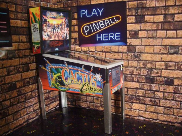 Cactus Canyon 1/12th Scale Miniature Pinball Table Model